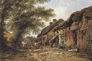 William Pitt Old Cottages at Stoborough,Dorset (mk37) oil painting picture wholesale